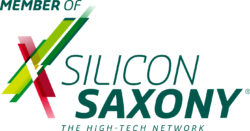 Hinweis auf Mitgliedschaft bei Silicon Saxony